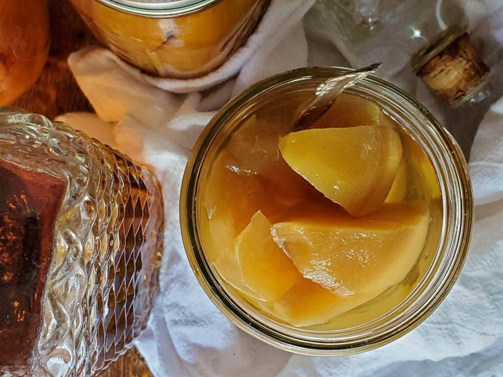 canning bourbon peaches