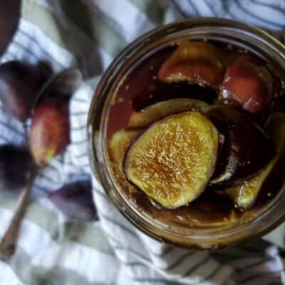 Preserving Bourbon Figs | A Dessert Topper