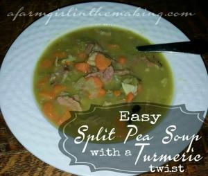 Easy Split Pea Soup With A Turmeric Twist