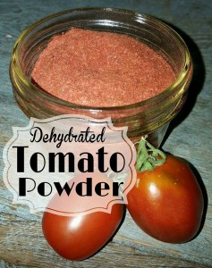 How To Make Tomato Powder by Dehydrating Tomatoes