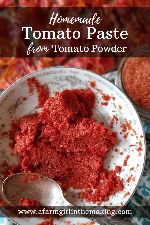 Homemade Tomato Paste from Tomato Powder