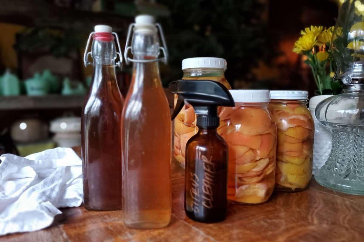 DIY Citrus Vinegar Cleaner for the Home