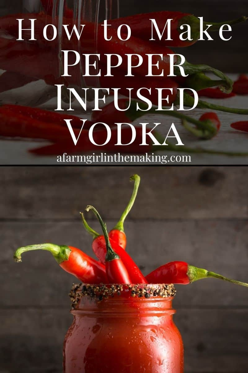 This jalapeno infused vodka recipe needs to be pinned to your Pinterest board, select the pin to do so.