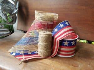diy patriotic vintage flag wreath