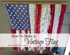 How To Make A Vintage Flag