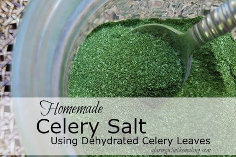 Homemade Celery Salt Using Dehydrated Celery Leaves