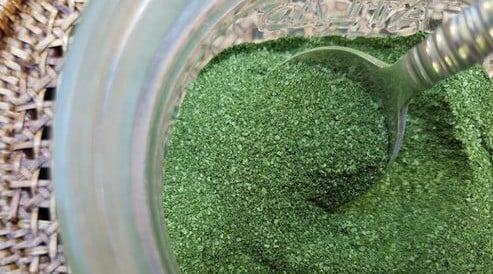 Homemade celery salt using dehydrated celery leaves