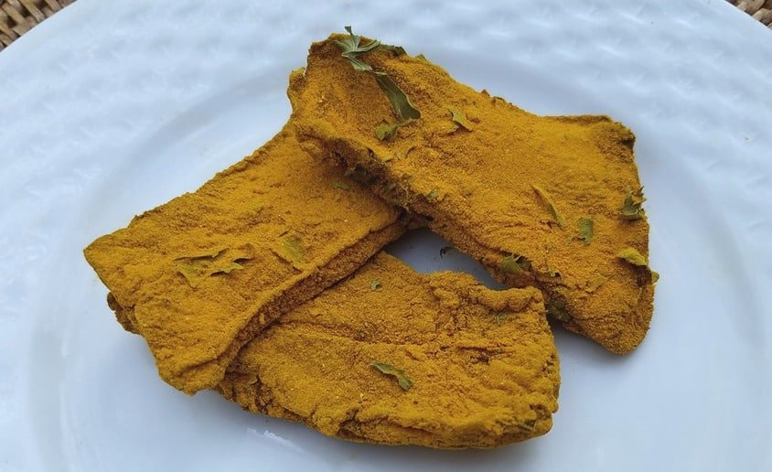 dehydrated dog treats - liver and turmeric