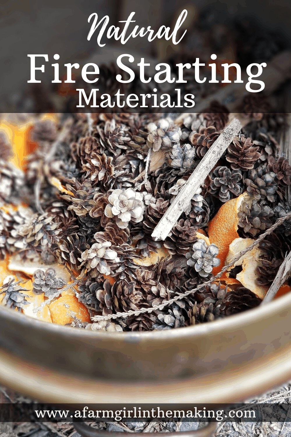 natural fire starting materials