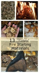 natural fire starting material