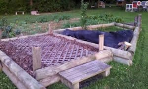building unique raised beds out of recycled and reclaimed material