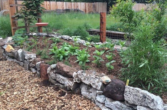 building unique raised garden beds out of recycled and reclaimed material