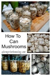 how to can mushrooms