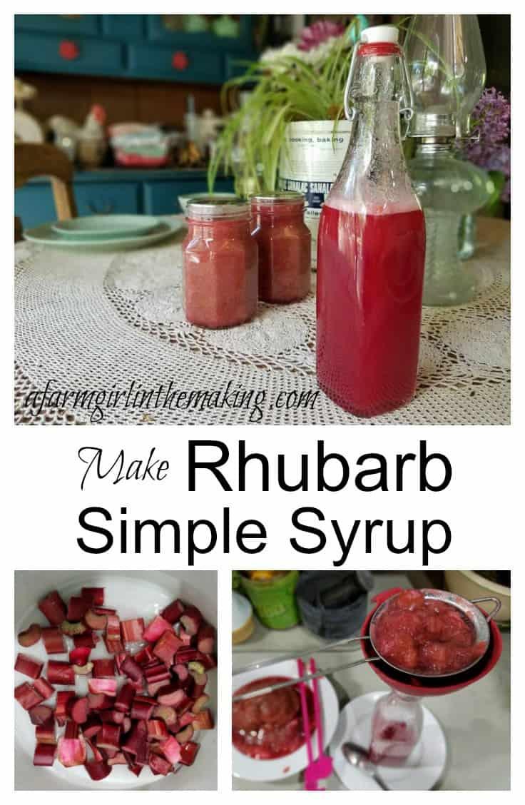 Rhubarb Simple Syrup - a delicious way to preserve rhubarb | A Farm ...