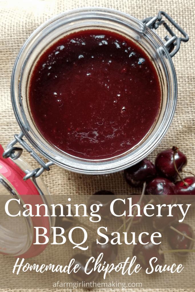 canning cherry bbq sauce