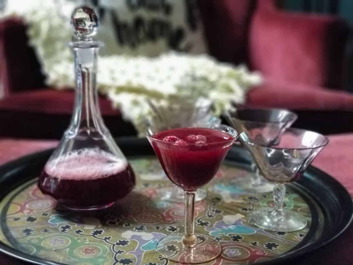 Easy to Make Raspberry Cordial - This is not your typical Anne of Green Gables Cordial