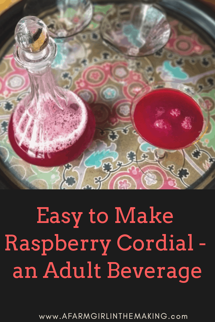 old fashioned raspberry cordial