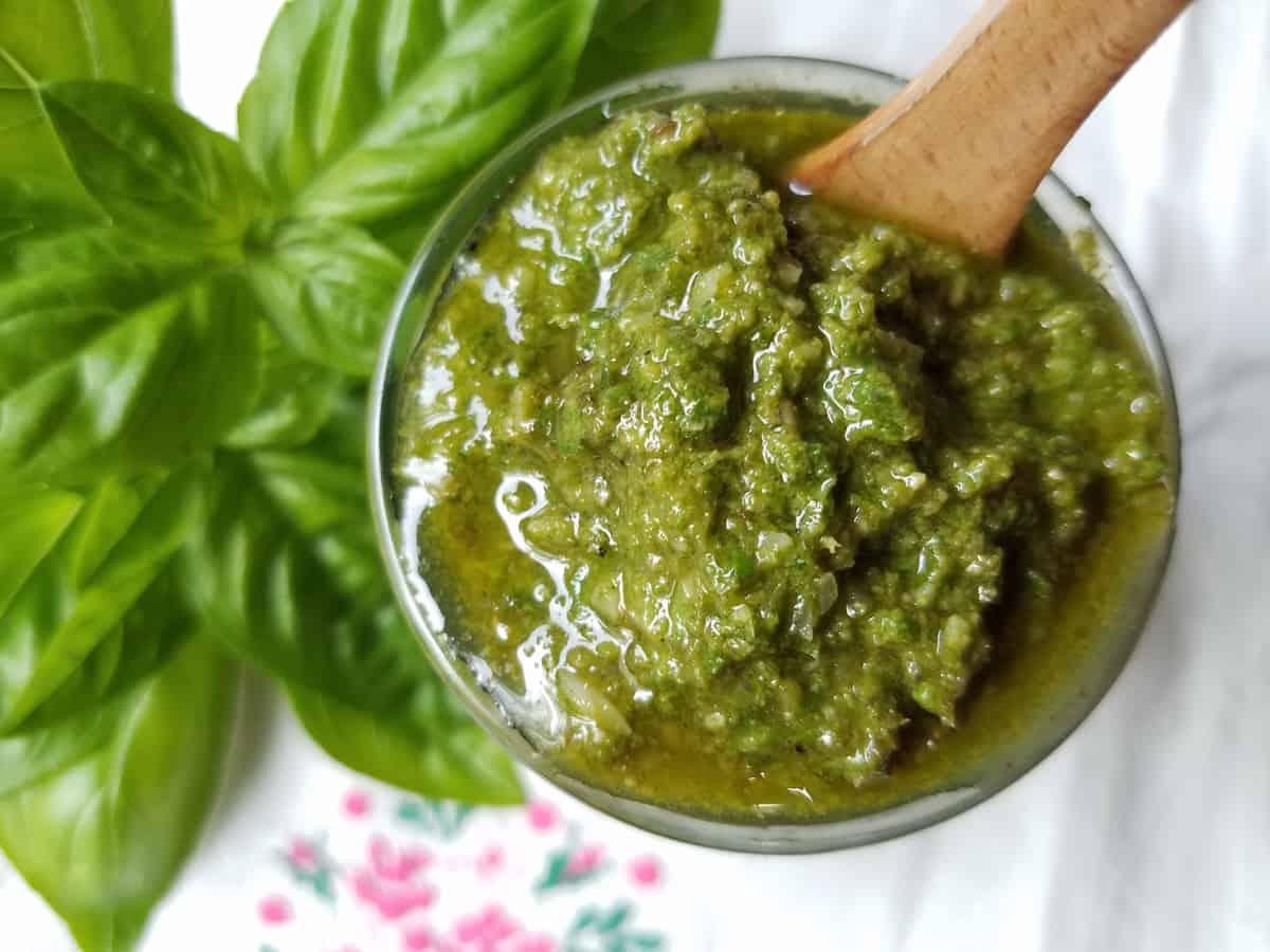 Homemade Basil Pesto Recipe and Preserving