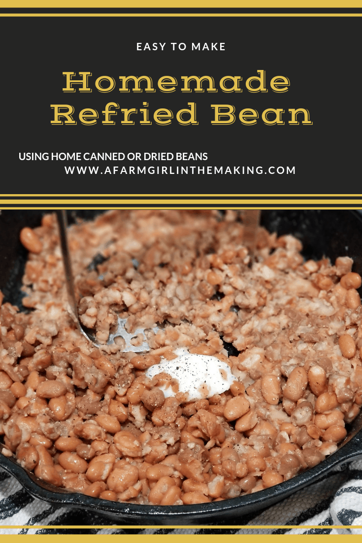 Refried Beans | Using Canned Beans and Lard