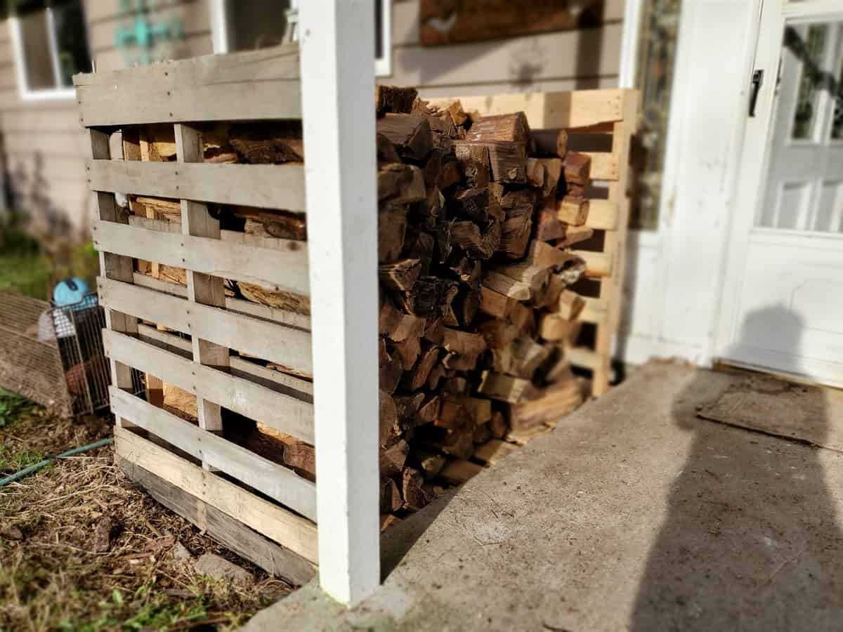 DIY Wood Box for Firewood Storage
