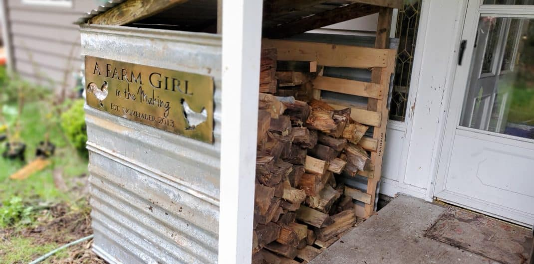 DIY Wood Box for Firewood Storage