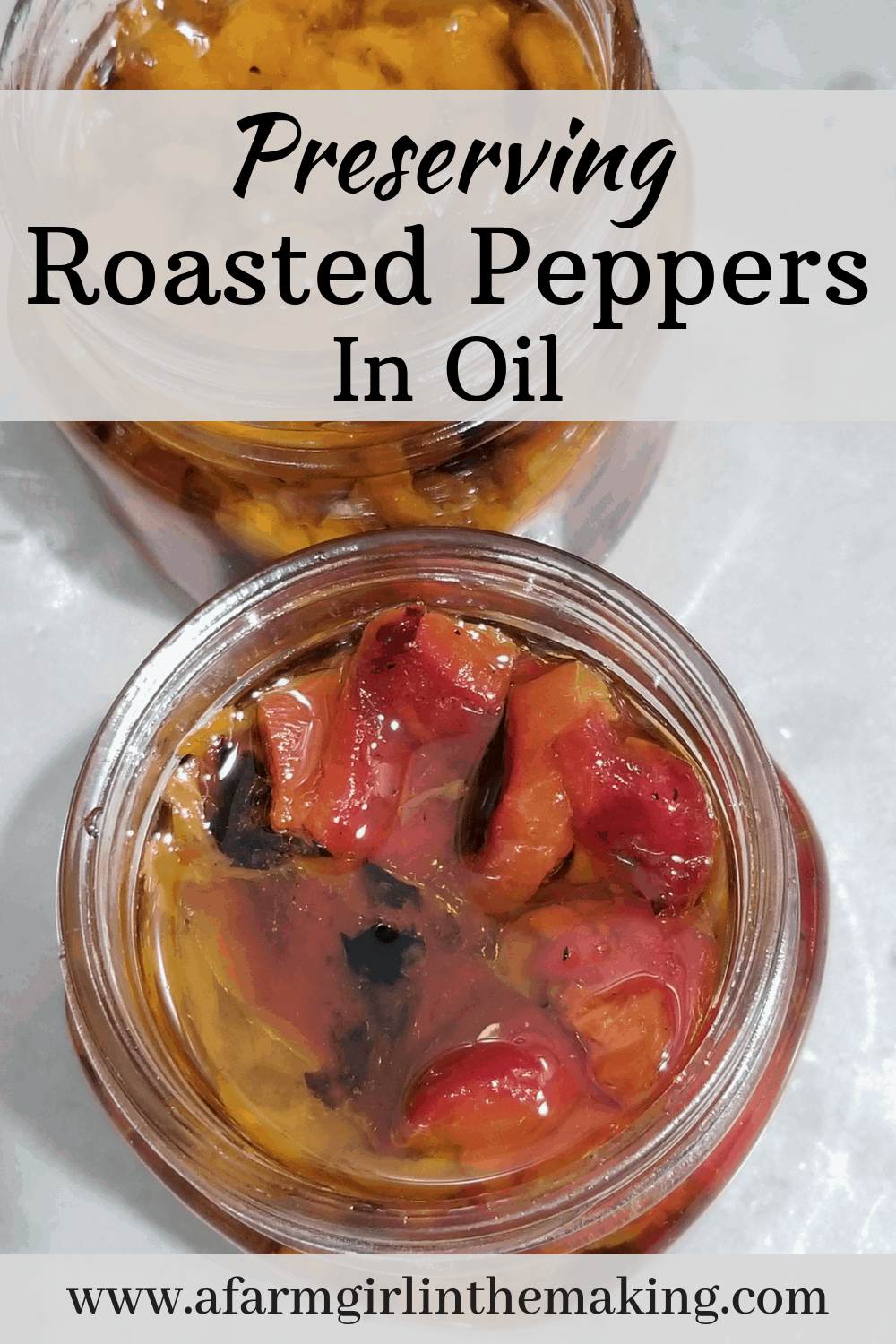 preserving roasted peppers in oil