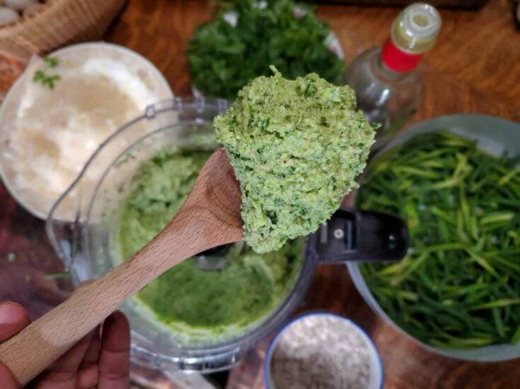 Garlic Scapes - Easy Homemade Pesto Recipe