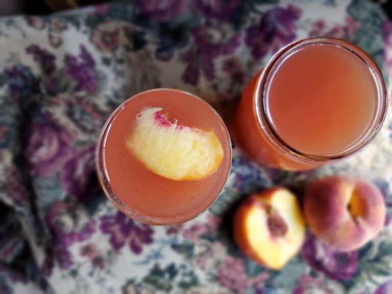 easy steps to making a peach shrub