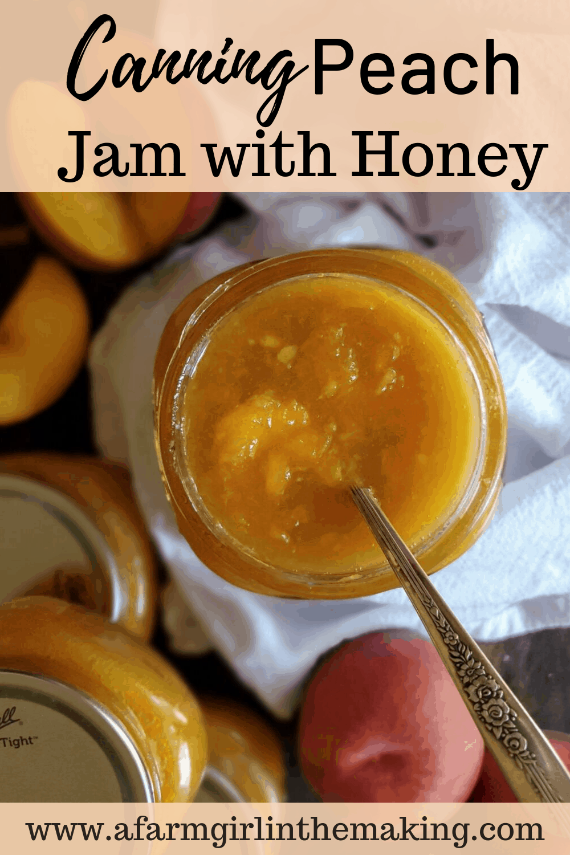 canning peach jam with honey