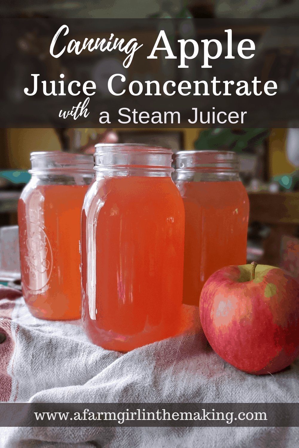 canning apple juice concentrate