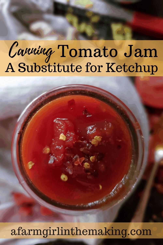canning tomato jam