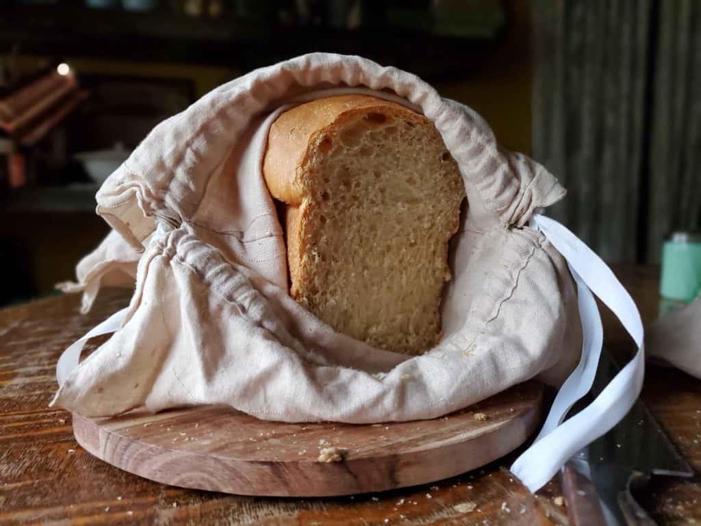 diy linen bread bag