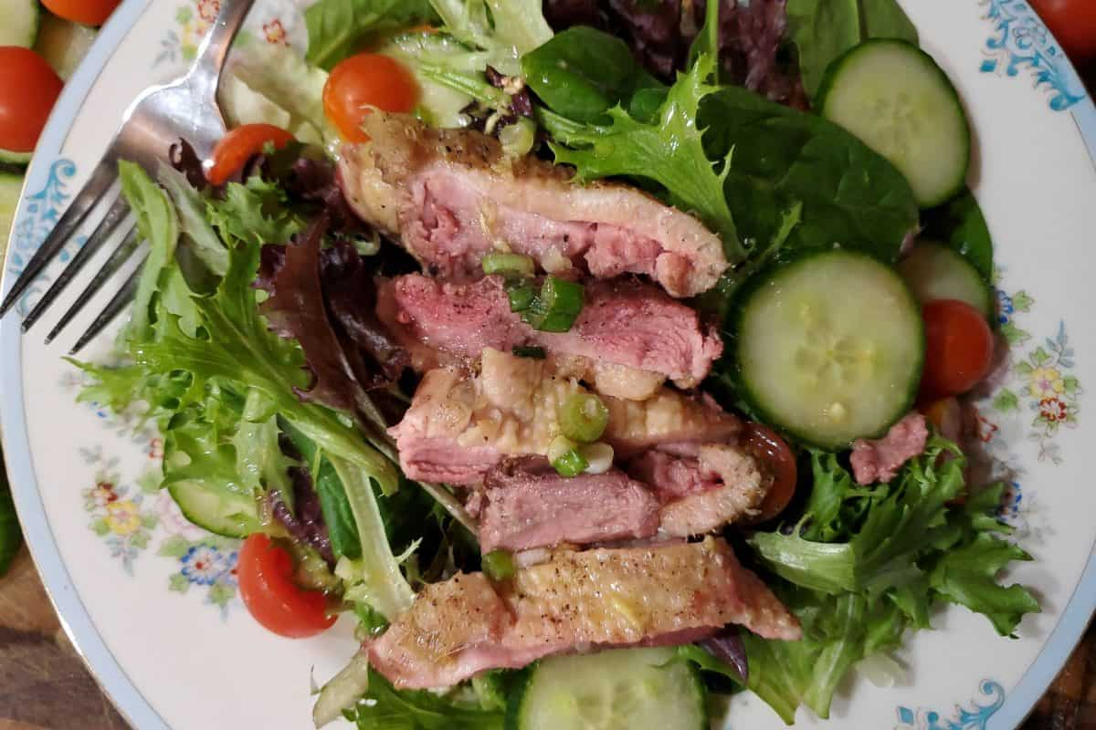 Roasted Duck Breast with Ginger Lime Dressing