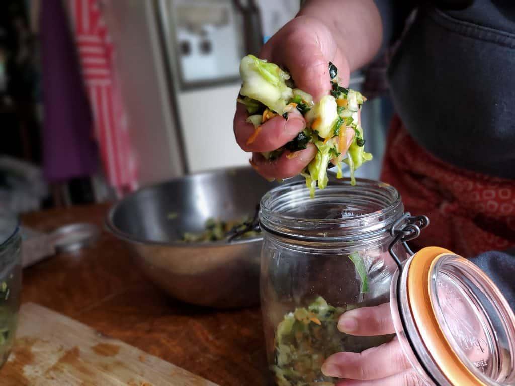 smoked kale kraut