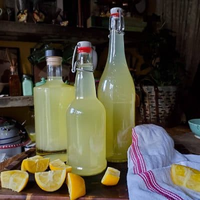 Homemade Limoncello using Meyer Lemons