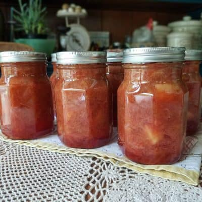 Canning Strawberry Rhubarb Pie Filling