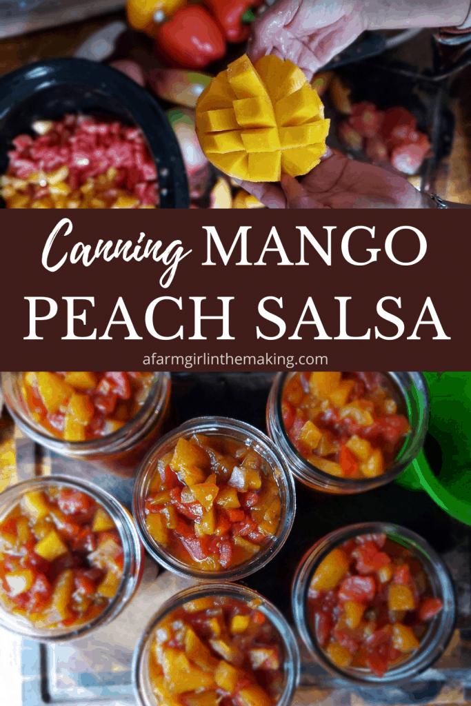canning mango peach salsa