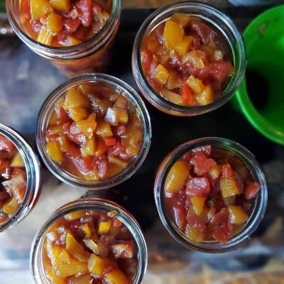 Mango Peach Salsa with Canning Tips