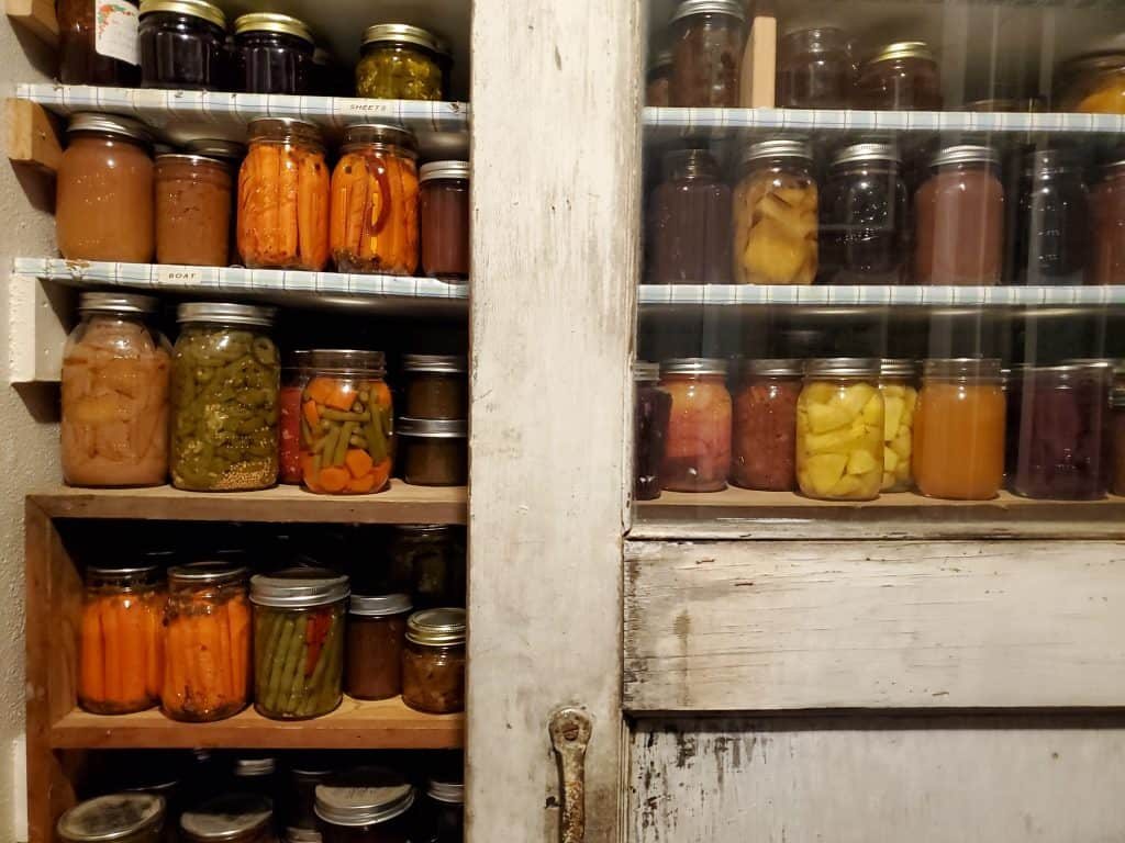 well-stocked emergency pantry