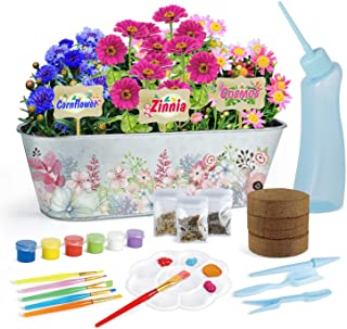 planting and painting a planter makes a great practical gift for homesteading kids