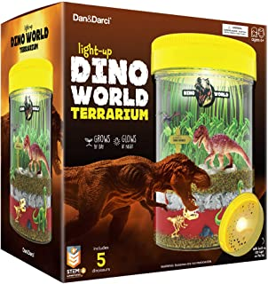 dino world terrariums are gifts for farm kids