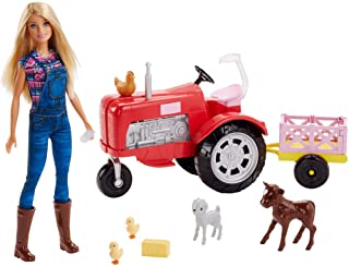 gifts for homesteading kids barbie and tractor