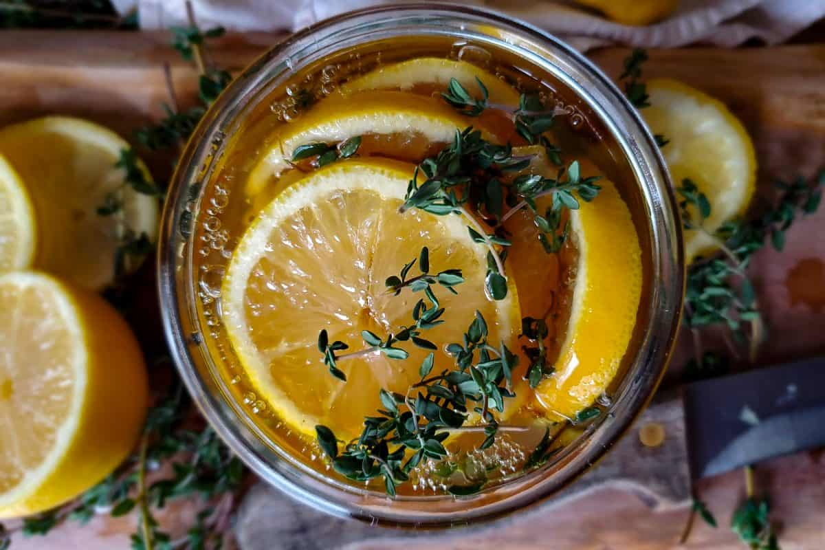Honey Lemon Cough Syrup Recipe with Thyme| a Natural Solution